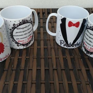 Caneca personalizada lembrancinha de casamento