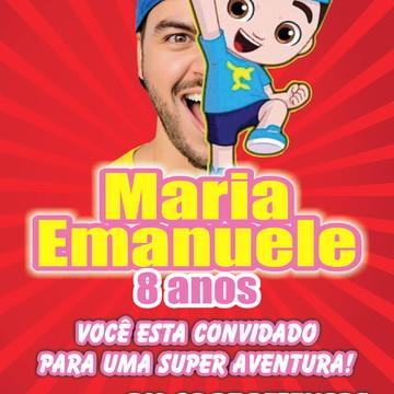 Convite Os Aventureiros Luccas Neto - vermelho 10X7