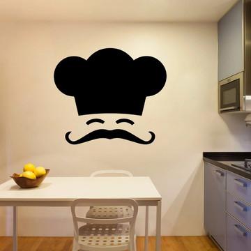 Adesivo Decorativo Chef Bigode