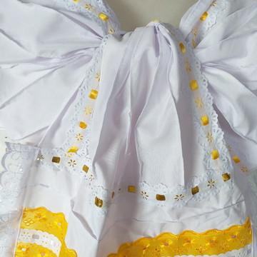 Roupa Umbanda Candomblé Laço em Amarelo