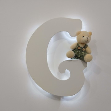 Letra com luz de led decorativa decoração maternidade