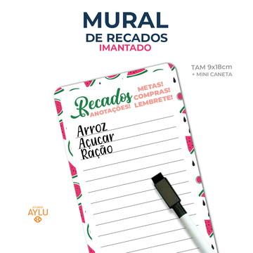 MURAL DE RECADOS IMANTADO