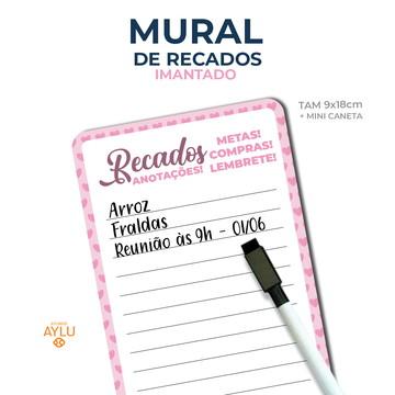 MURAL DE RECADOS IMANTADO ROSA