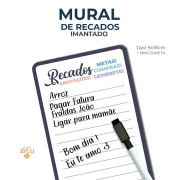 MURAL DE RECADOS IMANTADO PRETO