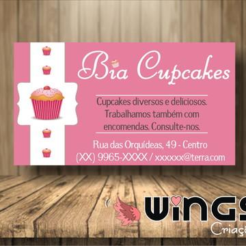 Cartão de Visitas Digital: Cupcakes II