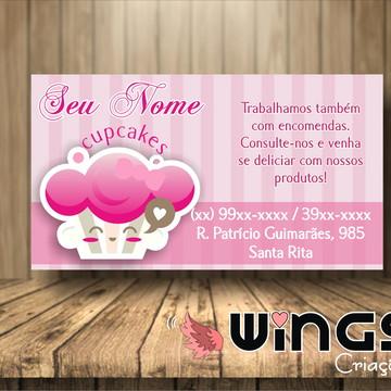 Cartão de Visitas Digital: Cupcakes III