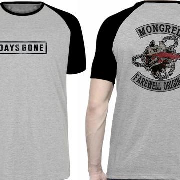 camiseta blusa Days Gone jogo plastation 4 moto harley david