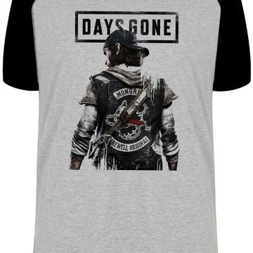 camiseta blusa Days Gone plastation 4 game moto motoqueiro