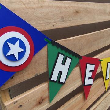 Bandeirolas Super Heróis Vingadores