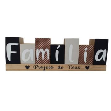 Decoração de sala - Cubos conjunto Família