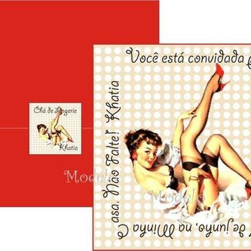 Convite Pin Up Chá de Lingerie