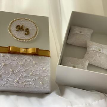 Padrinhos de Casamento, Celebrante, Pais Caixa convite luxo