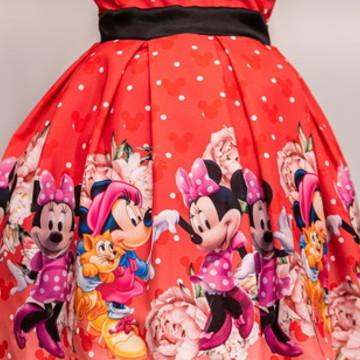 Vestido da Minnie Vermelha Luxo