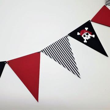 Varal de bandeirinhas - Piratas
