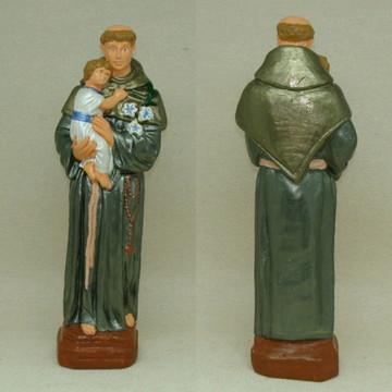 Santo Antônio imagem escultura estátua gesso 30 cm isat002