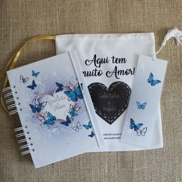 Diário da Noiva (Planner Noiva) - Capa Borboletas Azuis