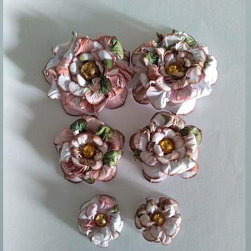 Flores para scrapbook ( Kit Lis )