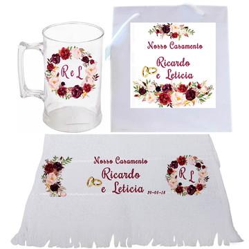 Kit Personalizado - Brinde Casamento. Brinde Noivado