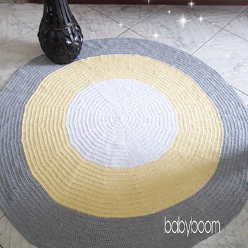 Tapete Redondo de Crochê 1,20m de diâmetro