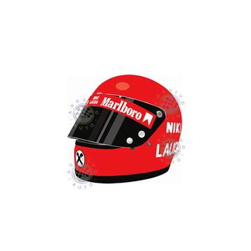 Adesivo Capacete Niki Lauda 1973 Formula 1