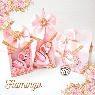 Arquivo de corte Digital Silhouette Kit Festa Flamingo LUXO
