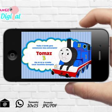 Convite Digital Thomas e Seus Amigos