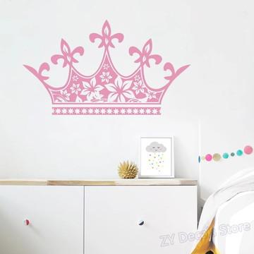 Adesivo Decorativo Grande Coroa de Cabeceira