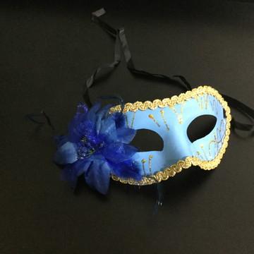 Máscara Veneziana cor Azul