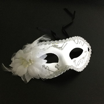 Máscara Veneziana Branca