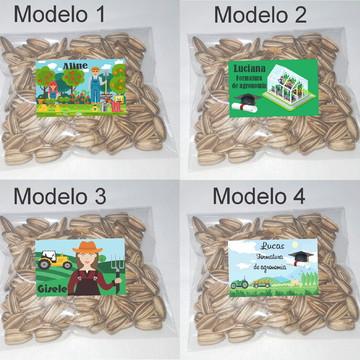 Saquinho personalizado com semente girassol/Agronomia