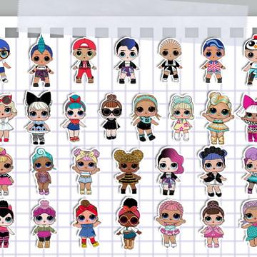 50 Apliques Boneca LOL (Girl e Boy)