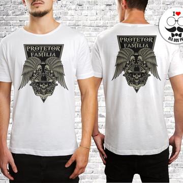 Camiseta Dia Dos Pais Personalizada Protetor Da Família