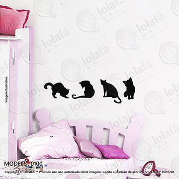 Adesivos para Quarto de Bebe Parede 120x35cm Gatos