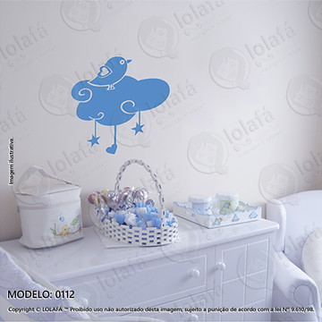 Adesivos para Quarto de Bebe Parede 40x39cm Nuvem