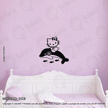 Adesivos para Quarto de Bebe Parede 60x56cm Hello Kitty