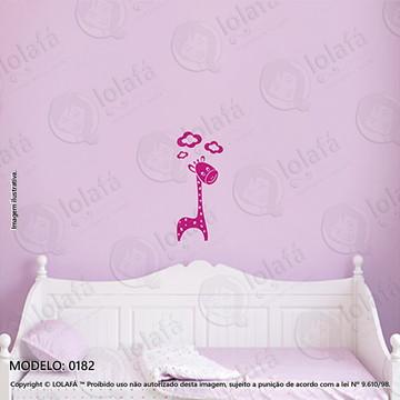 Adesivos para Quarto de Bebe Parede 30x71cm Girafa