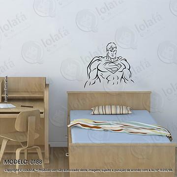 Adesivos para Quarto de Bebe Parede 50x46cm Super Man