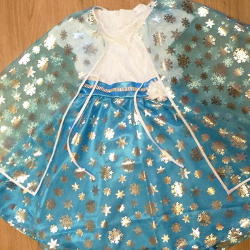 Vestido da Frozen Luxo + Capa