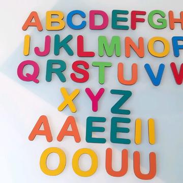 Kit Educativo em MDF 62 peças Coloridas