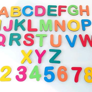 Kit Educativo em MDF 36 peças Coloridas