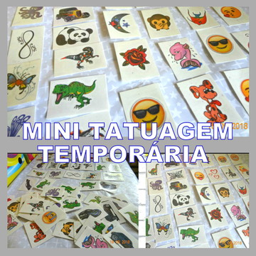 400 Tatuagens Temporárias Infantis festa e eventos