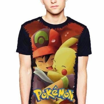 da51b9e75a Camiseta Pokemon Ash e Pikachu Masculino e Feminino