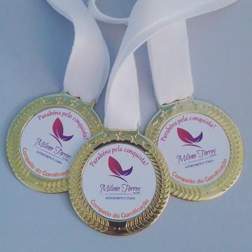 Kit 25 medalhas personalizadas