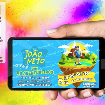 Convite ARTE DIGITAL - Os Aventureiros Luccas Neto
