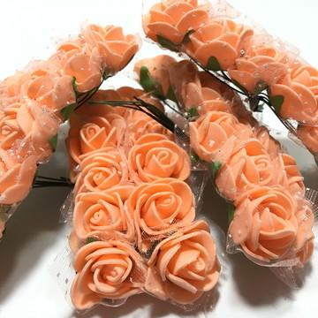 Flor de Eva com Tule Laranja