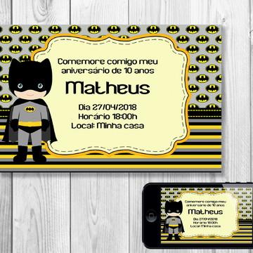 Convite Digital Batman Cute