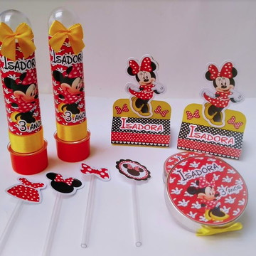 Kit Festa Minnie Vermelha com 65 peças