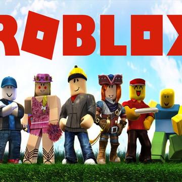 Faixa decorativa em adesivo do Roblox
