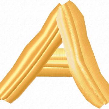 Matriz Bordado Alfabeto Espaguete