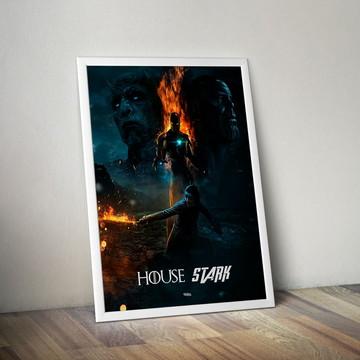 Quadro House Stark - Vingadores e GOT